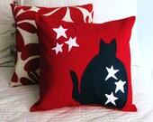 Patriotic Cat Pillow Cover