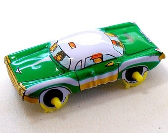 Green Machine, Tin toy car, 1960s Japan.