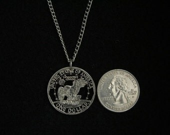 Susan B. Anthony Dollar Coin reverse necklace