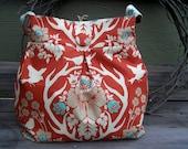 Lg. Reversible Bag - Antler Damask