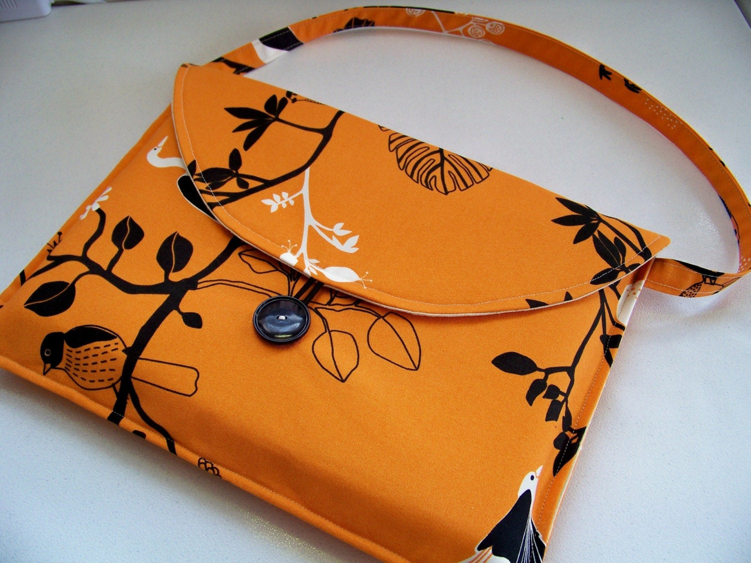 laptop sleeve w strap and pockets ikea birds by annyandme. Black Bedroom Furniture Sets. Home Design Ideas