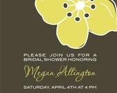 Mod Flower - Bridal or Baby Shower Invitation