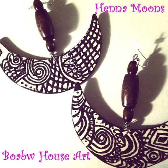 Henna Moons Earrings