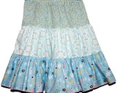 Spinning skirt blue garden