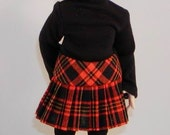 Plaid Pleated SKIRT for Fairyland Little Fee, Kaye Wiggs Millie, Tiny BJDs  - Other Colors Available