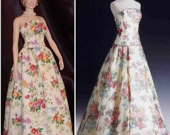 Replica of Princess Diana Christie's Auction Lot 59 Gown - for Franklin Mint Diana
