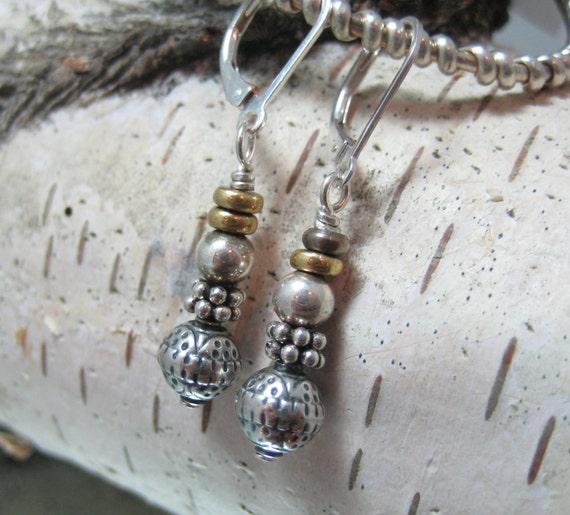 Stacked Sterling Earrings
