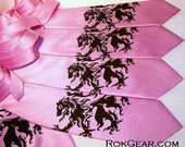 men's neckties. print to order in colors of your choice - discount bulk price Lion tie
