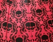 Men's necktie - set of 2 neckties - RokGear original design Chronic Skull Damask - Custom colors