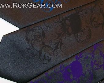 RokGear Neckties 6 Men's Skull ties, wedding necktie set  - 59 different necktie colors to select from