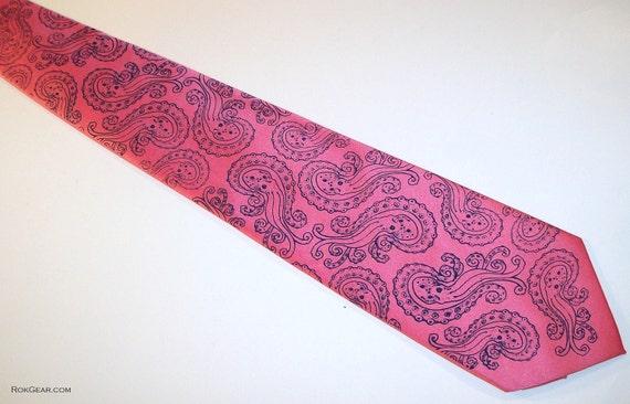 Octopus paisley mens necktie - available in 59 different necktie colors