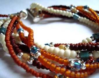 Eight strand south western style bracelet