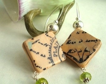 Letters from home Polymer clay earrings