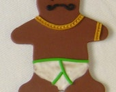 Gingerbread Man mustache reserved for aifrah