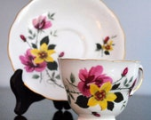 VINTAGE QUEEN ANNE ENGLISH CUP AND SAUCER