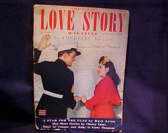 Vintage Smith and Street Love Story Magazine July 27, 1943