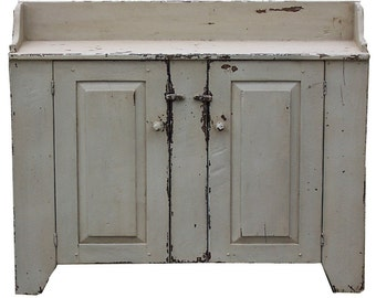 Primitive Farmhouse Rustic Furniture Painted Jelly Cupboard Country  Colonial Dry Sink Antique Reproduction Distressed Custom Cabinet