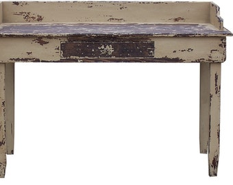 Primitive painted country farmhouse desk table rustic distressed Early American decor reproduction furniture