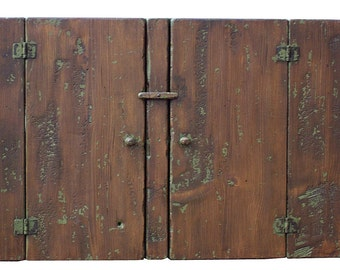 Early American reproduction hanging farmhouse rustic  country wall cupboard cabinet primitve painted style Colonial furniture