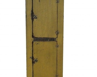 Primitive painted rustic farmhouse chimney cupboard cabinet painted distressed reproduction kitchen furniture