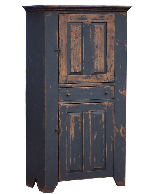 Primitive farmhouse kitchen cupboard cabinet by JosephSpinaleFurn