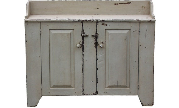 Primitive farmhouse kitchen cupboard furniture country painted reproduction farm by Joseph Spinale