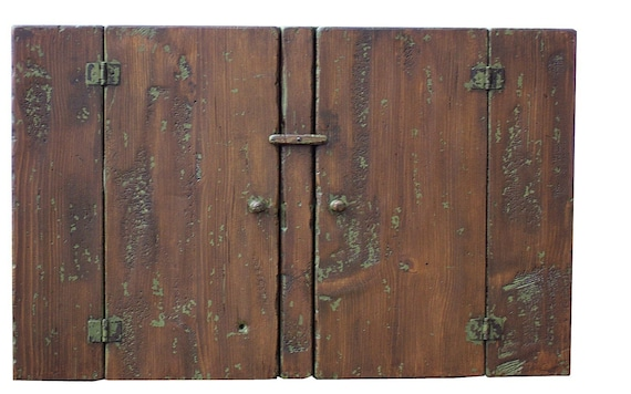 Early American reproduction hanging country wall cupboard cabinet primitve painted style Colonial furniture