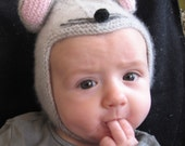 MOUSE cute cashmere hat for your precious bundle of joy