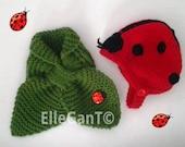 Cashmere Lady bug  gift set  for girl by ElleGanT