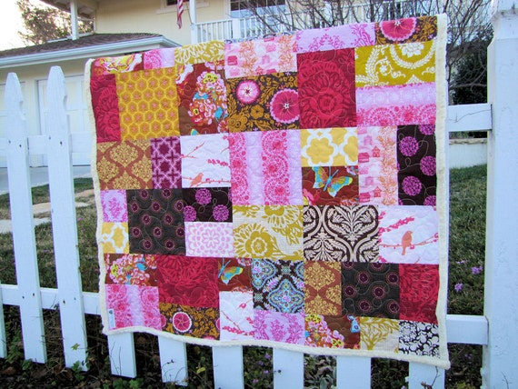 40x46 Random Patchwork  Anna Maria Horner Clippings Quilt Made to Order