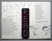 READ Bookmark - Gray and Varigated Blue Outline
