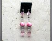 Endure Pink Ribbon Earrings
