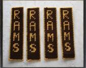 CUSTOM RESERVE Listing for MagikalDreams - Set of 4 RAMS Bookmarks