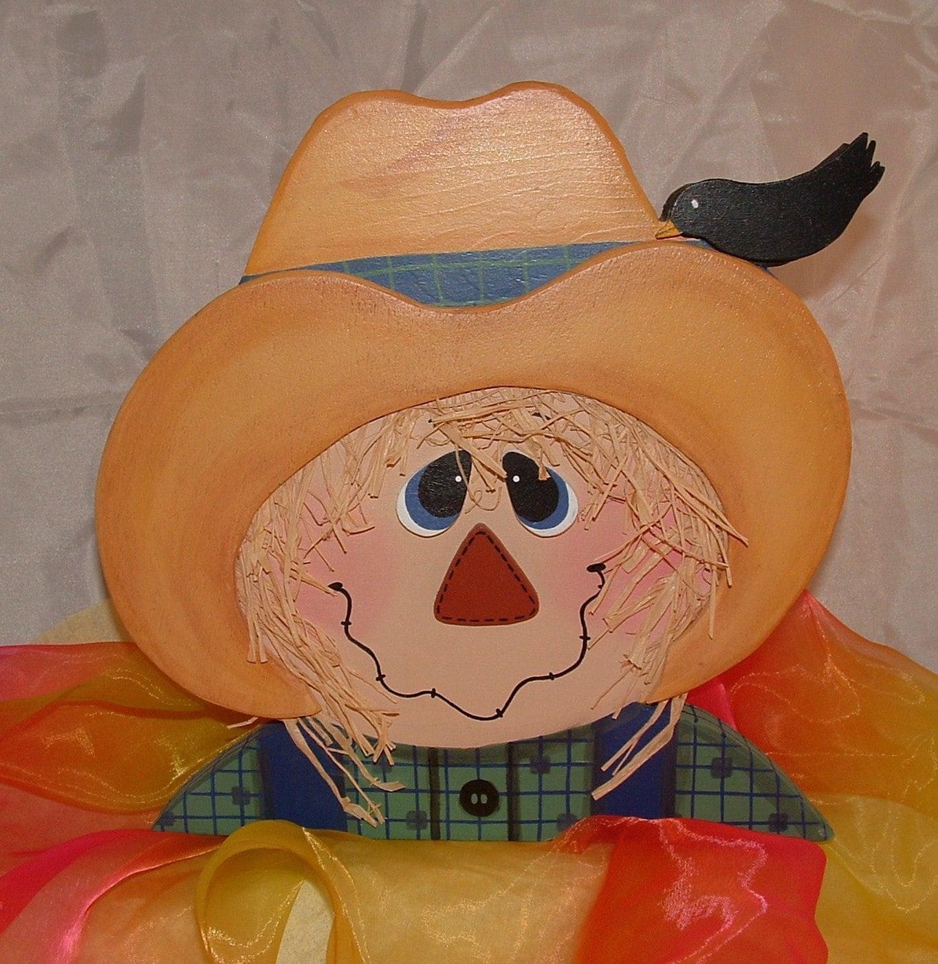 Wooden Scarecrow Head