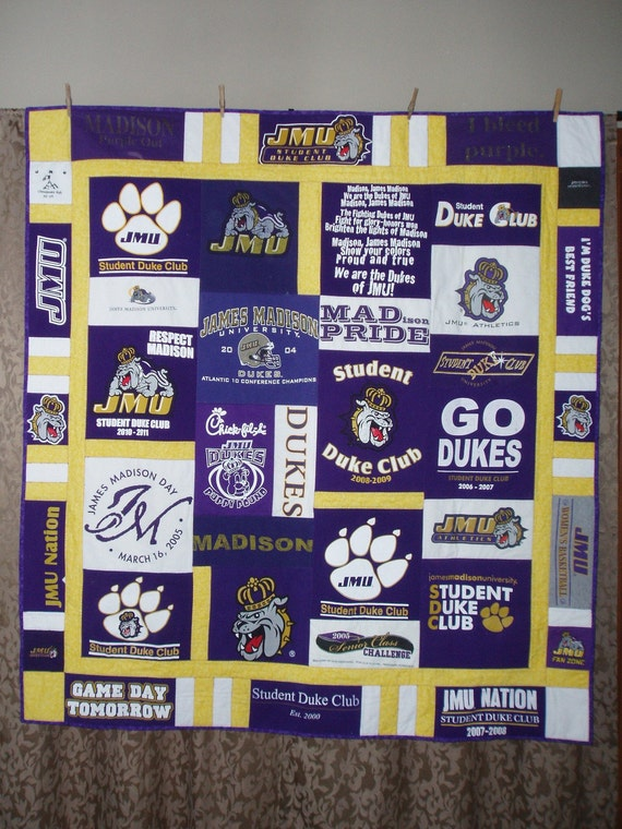 Small Throw size patchwork quilt made from your shirts - CUSTOM ORDERS