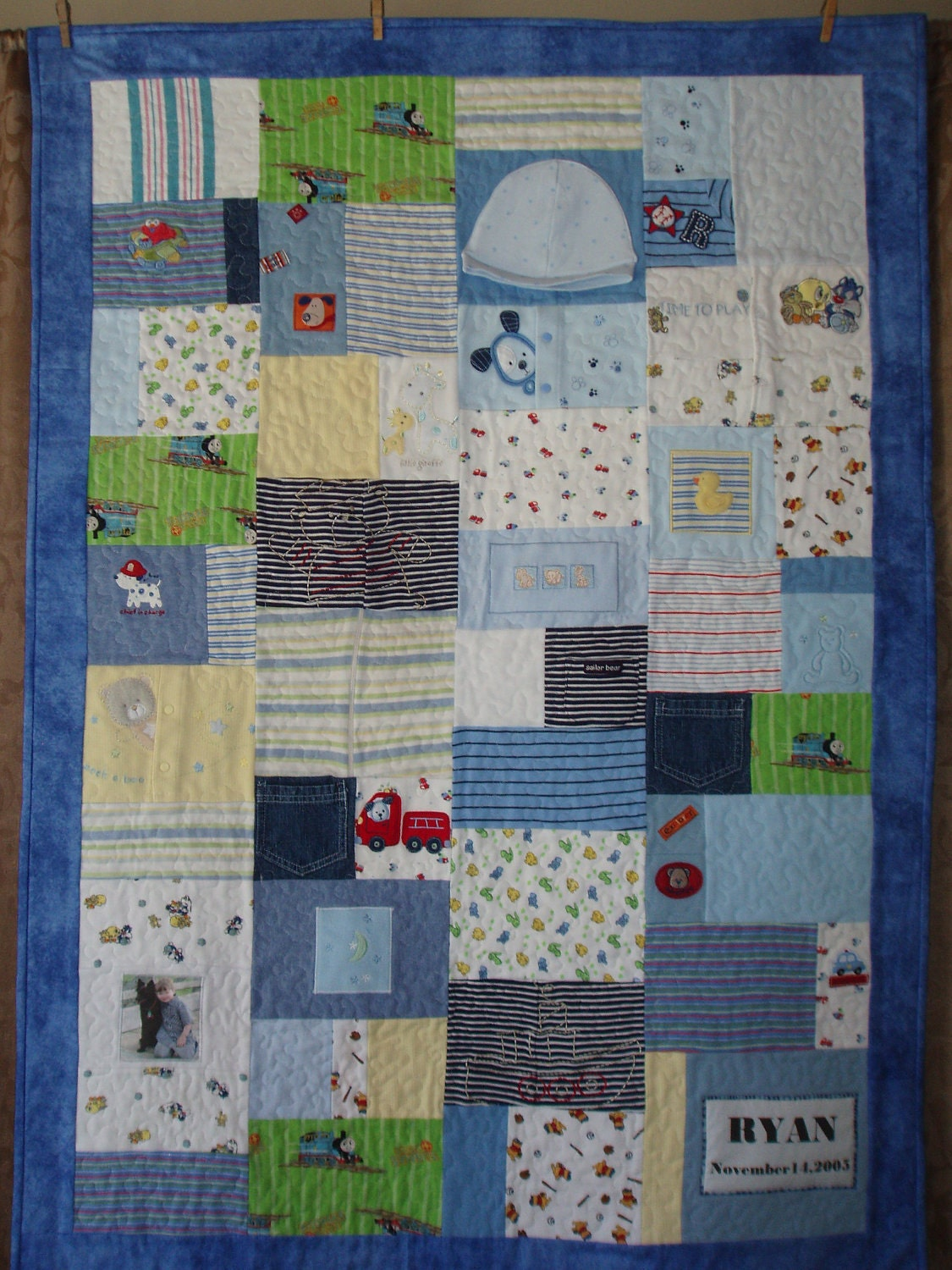 Custom Orders Small Throw Size Patchwork Quilt Made From Baby