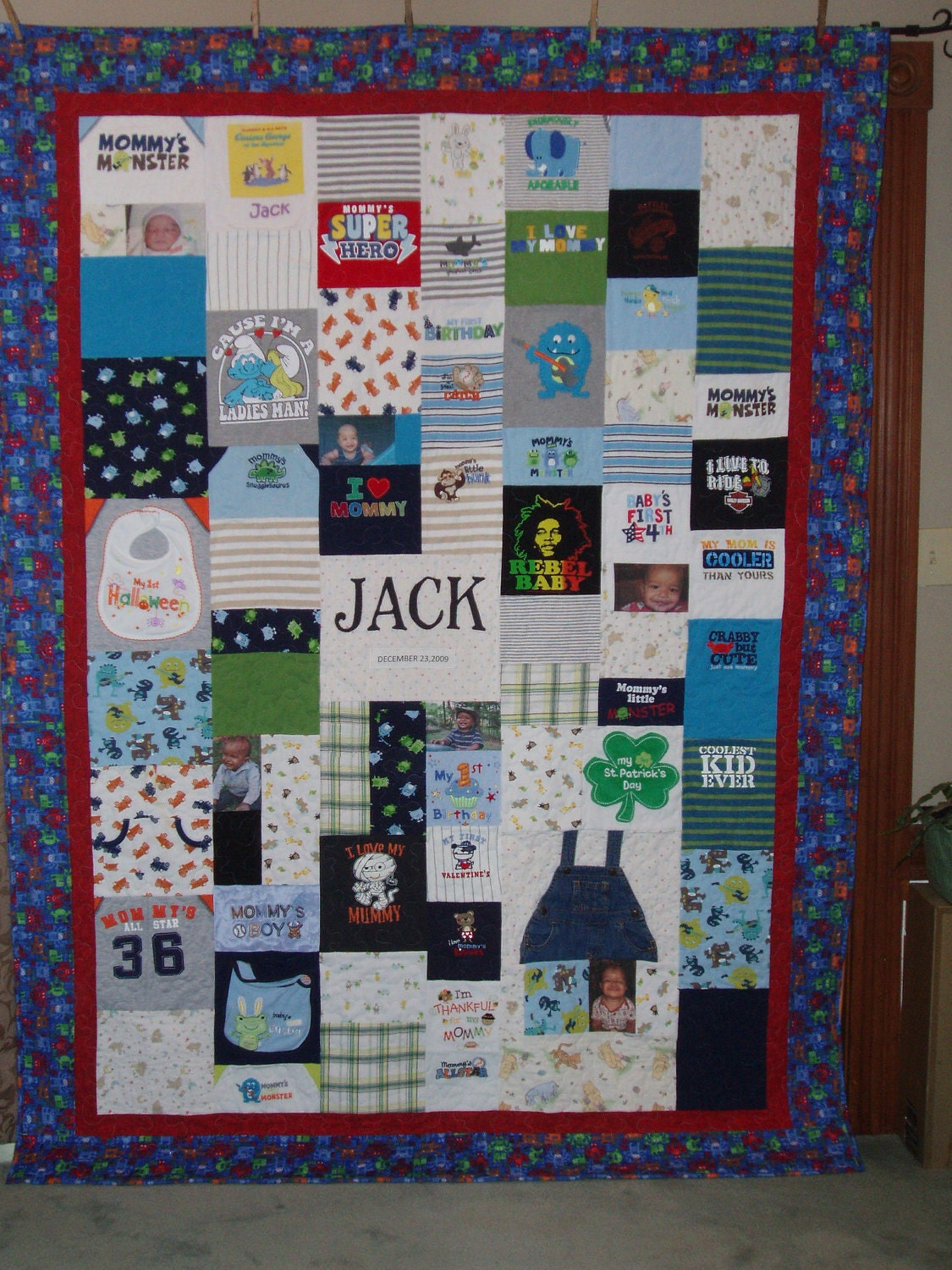 Down Payment For Patchwork Style Quilt Made From Baby Clothes
