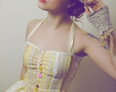 Cinderella Dress in Lemon Yellow Pink White and Nude