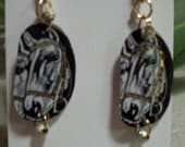 horse greenwear earrings