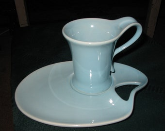 Vintage Cup and Snack Plate