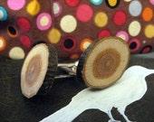 Wooden cufflinks- oak