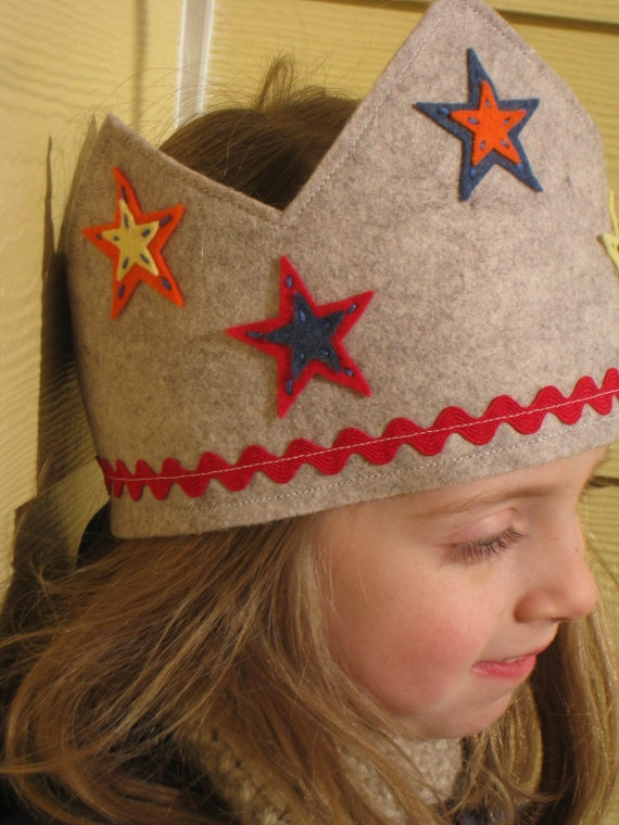 Wool Felt Dress Up Crown - Adjustable Size