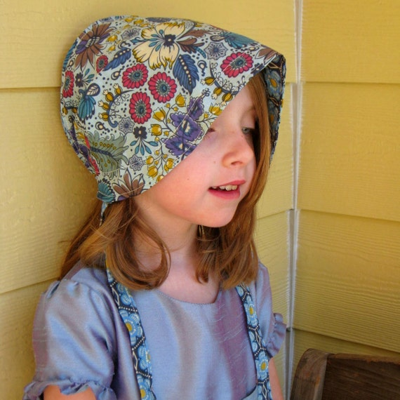 Reversible Summer Voile Sun Bonnet -  a sun hat for babies toddlers and children - custom sizes