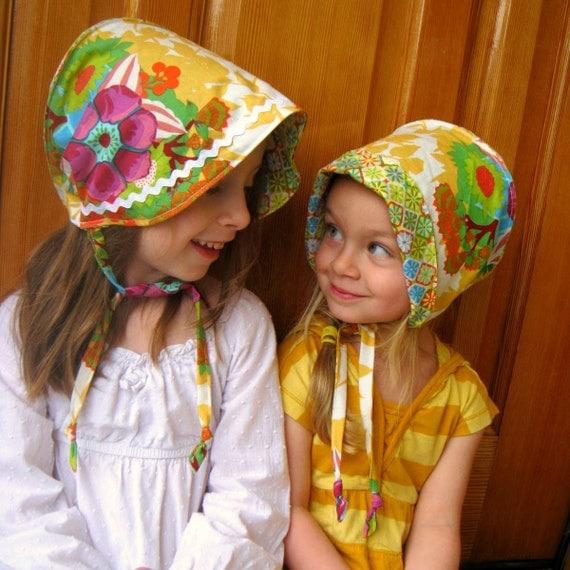 Reversible Cotton Bonnet- custom sizes