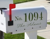 House number and last name for your mailbox
