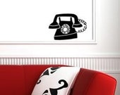 Vintage Telephone Vinyl Decal