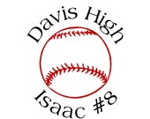 Baseball Car Decal (personalized)