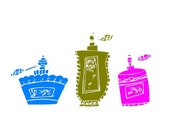 Vintage Perfume Bottles (set of 3) Vinyl Decals