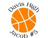 Basketball Car Decal (personalized)