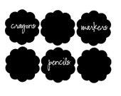 Scalloped chalkboard labels